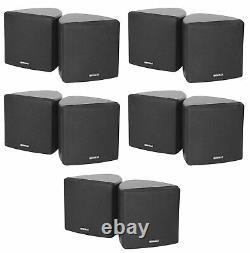 (10) Rockville Cube 70v Black 3.5 Commercial Wall Mount Restaurant/Bar Speakers