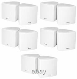 (10) Rockville Cube 70v White 3.5 Commercial Wall Mount Restaurant/Bar Speakers