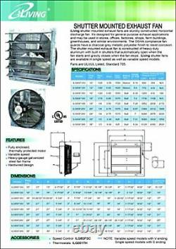 12 Commercial Exhaust Fan Wall Mount Mounted Restaurant Kitchen Workshop