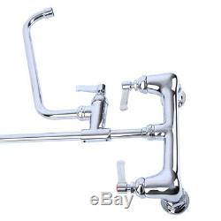 12 Commercial Wall Mount Kitchen Pre-Rinse Faucet with Add-On Tap Restaurant