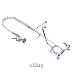 12 Commercial Wall Mount Kitchen Restaurant Pre-Rinse Faucet Swivel+ Add-On Tap