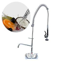 12 Inch Wall Mount Pre-rinse Faucet Commercial Kitchen Sink Pull Down Mixer Tap