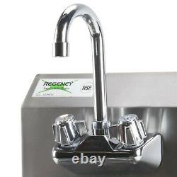 12 x 16 Hand Wash Sink with FAUCET Commercial Stainless Steel Wall Mount Kit