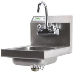 12x 16 Wall Mount NSF Hand Wash Sink Restaurant Stainless Steel Commercial New