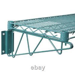 14 x 24 Wall Mount Green Epoxy Wire Shelf Rack Commercial Restaurant Pot NSF