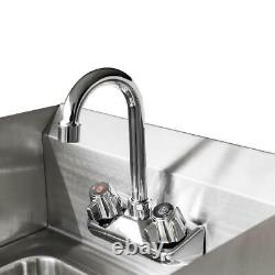 17 Wall Mount Hand Wash Sink Commercial Restaurant Kitchen Home Stainless Steel