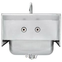 17 x 15 Wall Mount NSF Hand Wash Sink Commercial Restaurant Stainless Steel