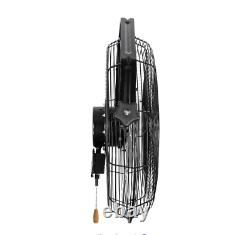 18 Wall Mount Commercial Grade Fan Industrial Shop Factory Cooling Circulating