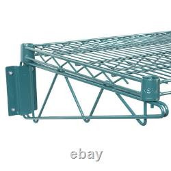 18 x 48 Wall Mount Green Epoxy Wire Shelf Rack Commercial Restaurant Pot NSF