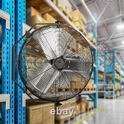 24 Inch Industrial Wall Mount Fan 3 Speed Commercial Ventilation Metal Fan