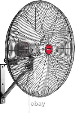 24 Inches High Velocity Indoor Oscillating Wall Mount New Model Commercial Fan