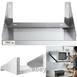 24 X 18 MICROWAVE SHELF STAND Stainless Steel Wall Mount Commercial Restaurant