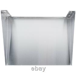 24 x 18 Stainless Steel Commercial Restaurant Wall Mount Microwave Shelf Stand