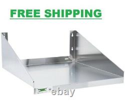 24 x 24 Stainless Steel Commercial Restaurant Microwave Wall Mount Shelf Stand