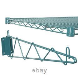 24 x 48 Wall Mount Green Epoxy Wire Shelf Rack Commercial Restaurant Pot NSF