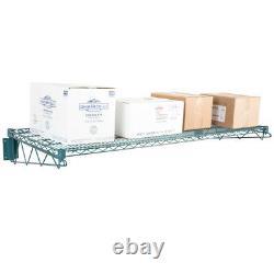 24 x 60 Wall Mount Green Epoxy Wire Shelf Rack Commercial Restaurant Pot NSF