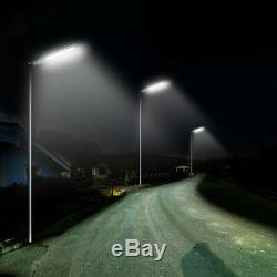 2Pcs 3000LM Commercial Solar Street Light IP65 PIR Motion Wall Mount Night Light