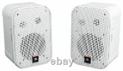 (2) JBL C1PRO-WH Control 1 PRO White 5.25 Wall Mount Home/Commercial Speakers