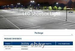 (2) LED Commercial 100 Watt Pole Light Warehouse Security Area Parking Roadway