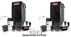 2-Pack Genie Overhead 6170H-B Wall Mount Jackshaft Garage Opener Battery BackUp