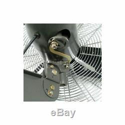 3-Speed OSCILLATING WALL-MOUNT FAN Quiet Industrial Commercial 30 Dia. 1/3 HP