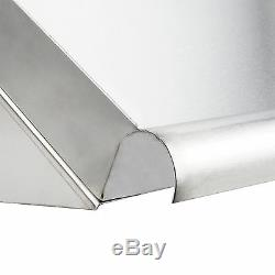 42 Wall Mount Stainless Steel Glass 2 Dish Rack Slant Shelf Commercial Kitchen