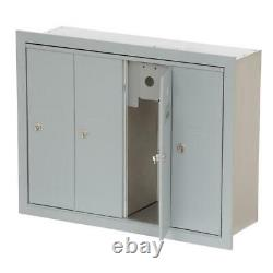 4 Door Apartment Mailbox Multi Family Mail Box Boxes Wall Mount USPS Access