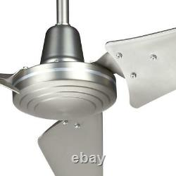 60 in. Large Ceiling Fan Brushed Steel Hampton Bay Industrial Home Energy Star