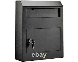 AdirOffice Heavy Duty Steel Secured Drop Box 12W x 4D x 15H
