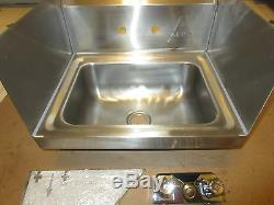 Aero Mfg. NSF 17 x 15 Stainless Steel Single Commercial Hand Sink & Faucet SS