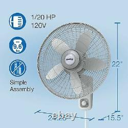 Air King 9018 Commercial Grade Oscillating Wall Mount Fan, 18-Inch 18