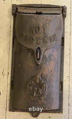 Antique Vtg Old Cast Iron Mailbox NO. 1 PHOENIX Mail Box
