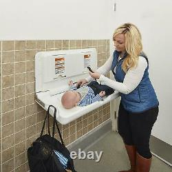 Baby Changing Station Table Wall Mounted Diaper Changer Commercial Bathroom Fold