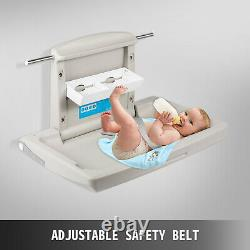 Baby Changing Station, Wall Mounted Baby Changing Table, Diapers Commercial Gray
