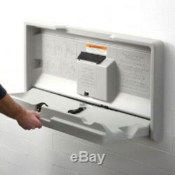 Baby Restroom Changing Diaper Station Table Wall Mount Gray Commercial Bathroom
