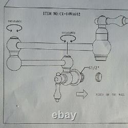 Bachmann Pot Filler Faucet Wall Mount Nickel Commercial Pot Filler CK-14WA602