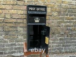Black Post Box Victorian Style Freestanding Cast Aluminium Letter Mail Lockable