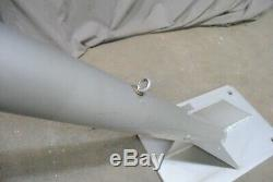 COMMERCIAL GR 7-Foot LONG WALL MOUNT Aluminum Flag Pole Salvage 45° 10 AVAILABLE