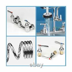 COOLWEST Commercial Sink Faucet 8 Inch Center Wall Mount Kitchen Faucet with