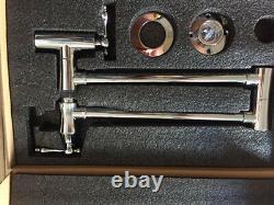 Chrome Commercial Brass Pot Filler Kitchen Faucet Fold Stretchable Double Joint