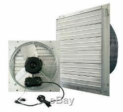 Commercial Exhaust Fan Wall Mount Shutter 30 Single Speed Industrial Workshop