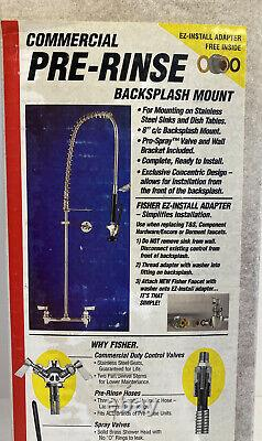 Commercial Faucet Fisher 2210-WB 8 in Wall Mount Pre-Rinse Assembly