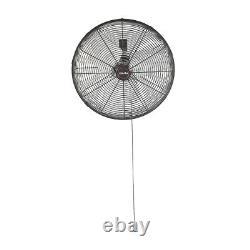 Commercial Grade 20 Wallmount Fan 3-Speed Air Circulator Warehouse Work Shop
