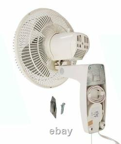 Commercial Grade Oscillating Wall Mount Fan Energy Efficient and Durable 12