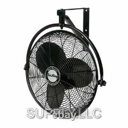Commercial Grade Wall Mount Fan 20 3-Speed Air Circulator Garage Shed Barn