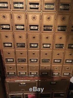 Commercial Mailbox Delivery Box Gold small & Medium Slots Locking (No Keys)
