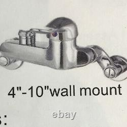 Commercial Sink Pre Rinse Faucet with Sprayer Wall Mount 4 Inch to 8 chromed