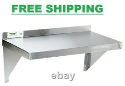 Commercial Stainless Steel Wall Shelf 12 X 24 Heavy Duty 18 Gauge Overshelf