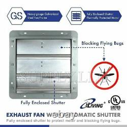 Commercial Wall Mount Shutter Exhaust Fan 10 with Controller Garage Shed Barn