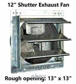 Commercial Wall Mount Shutter Exhaust Fan 12 Variable Speed Garage Shed Barn